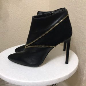 Renvy Leather and Suede Stiletto Booties